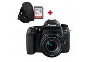 CANON EOS 77D + 18-55 mm f/4.0-5.6 IS STM + SD 16Go + sac ? dos photo Canon 300EG