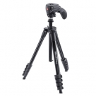Bonnes affaires : MANFROTTO COMPACT ACTION NOIR TREPIED ROTULE 5 SECTIONS
