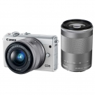 Bonnes affaires : CANON EOS M100 Blanc + 15-45 mm f/3.5-6.3 IS STM + 55-200 mm  f/4.5-6.3 IS STM