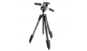 MANFROTTO COMPACT ADVANCED NOIR TREPIED ROTULE 3D 5 SECTIONS