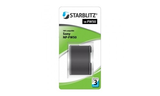 STARBLITZ Batterie compatible Sony NP-FW50