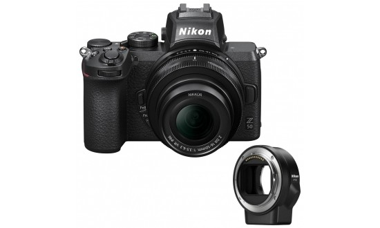 NIKON Z50 + 16-50 mm f/3,5-6,3 DX + Bague d'adaptation FTZ